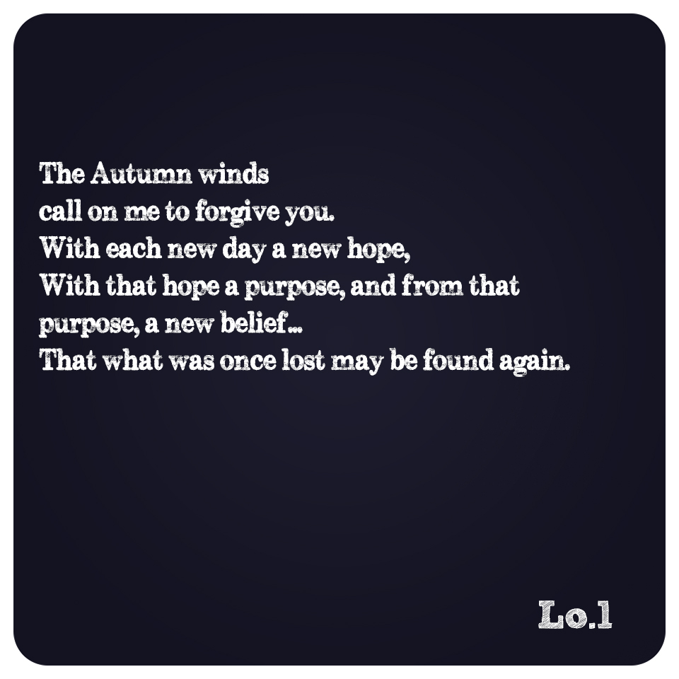The Autumn Winds….